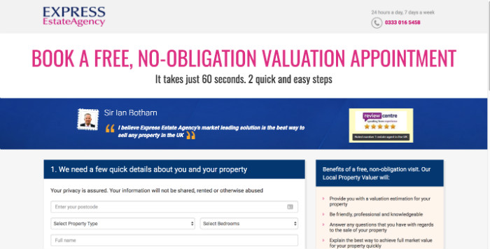 Express Estate Agency Home Valuation
