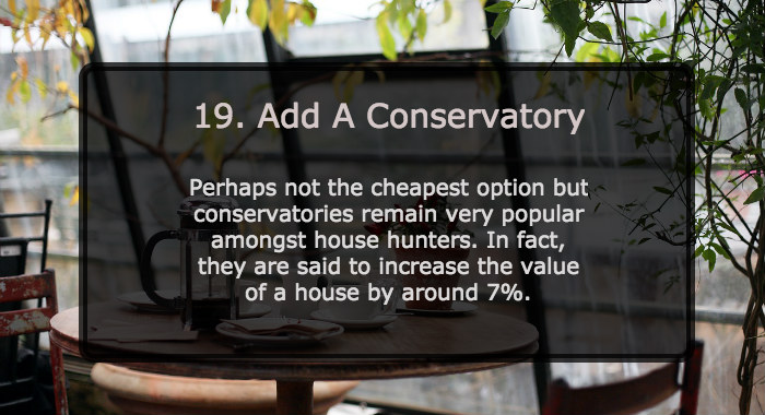 Add A Conservatory To Increase House Value
