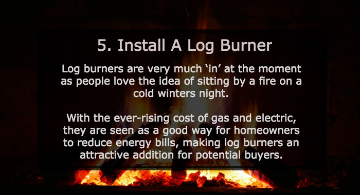 Install A Log Burner - Ways To Sell Your House Faster