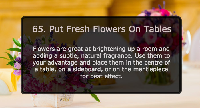 Put Fresh Flowers On Table