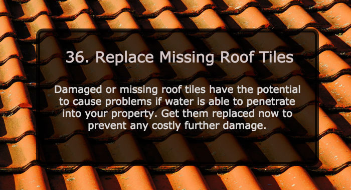 Replace Missing Roof Tiles