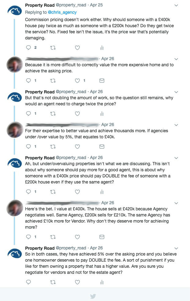 Twitter Conversation Shows Why Estate Agents Charge So Much