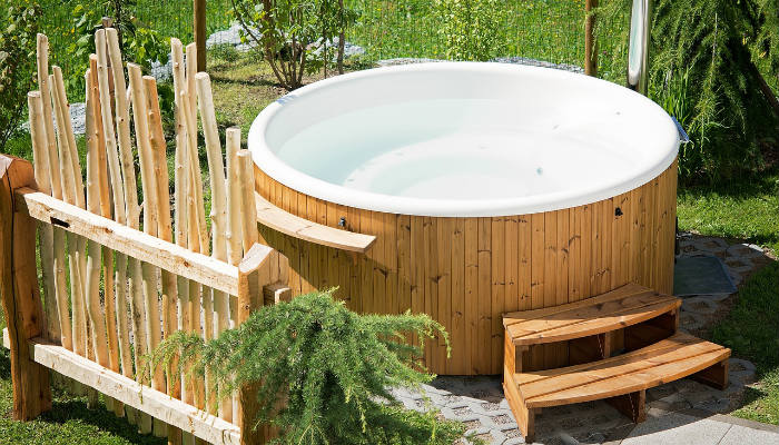Hot Tub In A Holiday Home