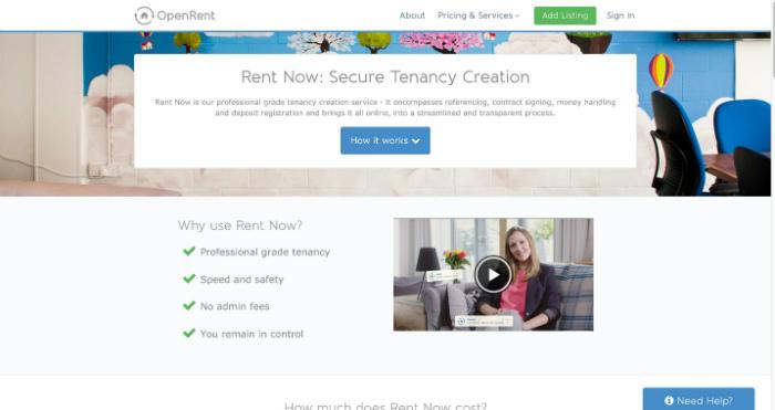 OpenRent Tenancy Creation