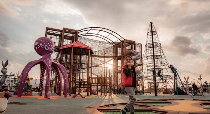 Playgrounds can be noisy