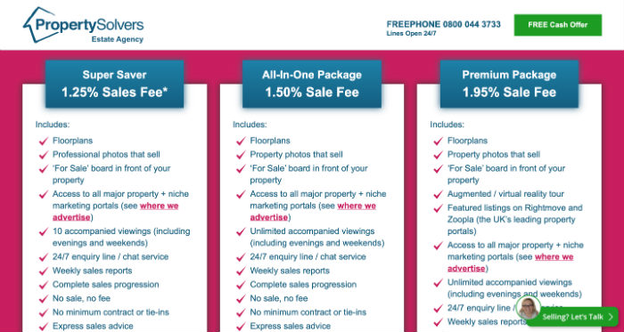Property Solvers Pricing