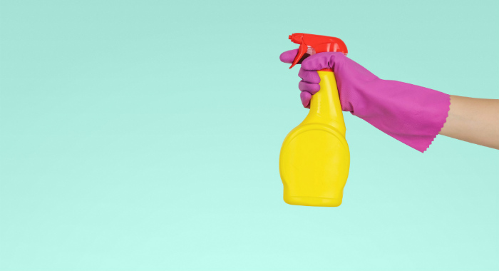 Your house should be cleaned from top to bottom before you leave!