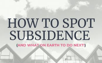 How To Spot Subsidence