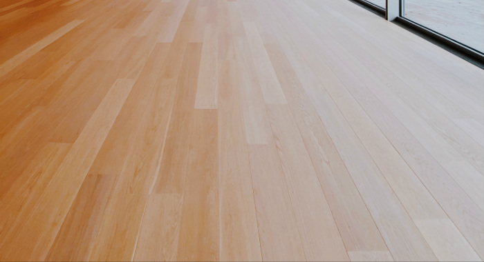 Vynil can resemble wood and is ideal for kitchens and bathrooms.