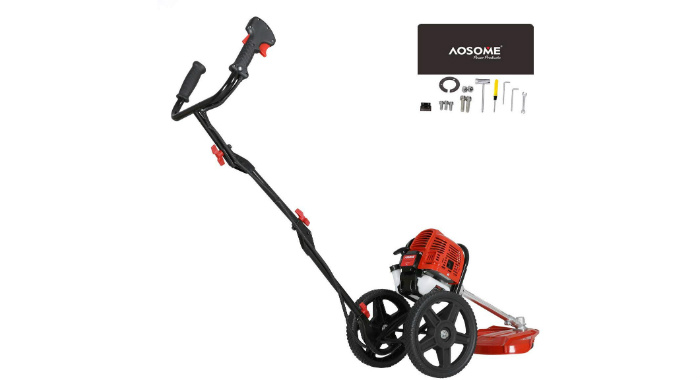 AOSOME Wheeled Petrol Strimmer