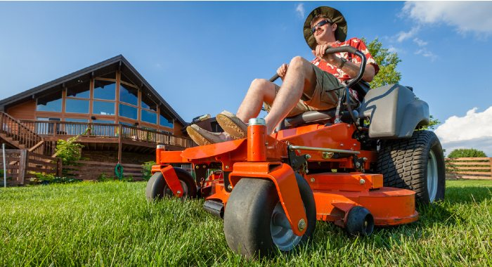 A ride-on mower will save you time and effort, but it will also cost you much more.