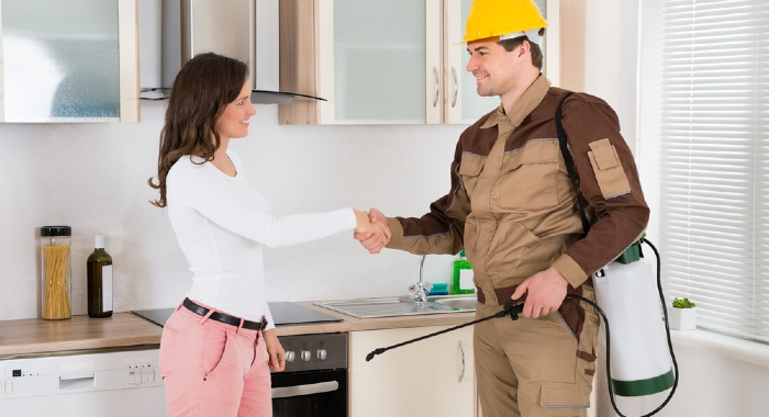 There might be situations where the landlord is responsible for the pest control, but not always.