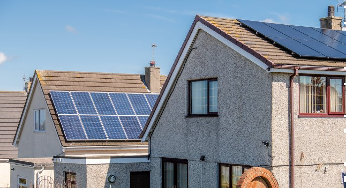 It is common that some companies own the solar panels that are in certain houses. Always asks who owns it before buying.